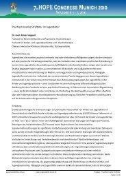 Psychisch kranke Straftäter im Jugendalter - Hope Congress Munich ...