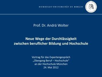 Präsentation Übergang Beruf - Hochschule - Europäische ...