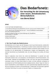 Das Bedarfsnetz – Ein Vorschlag - Grundeinkommen München