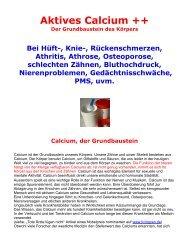 Aktives Calcium ++ - Über LivingZen