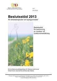 Beslutsstöd 2013.pdf - Kommunförbundet Skåne