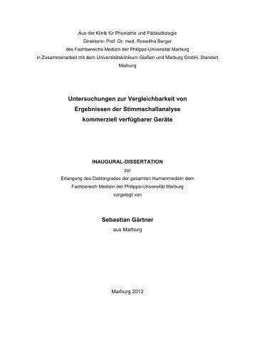 Untersuchungen zur Vergleichbarkeit von Ergebnissen ... - WEVOSYS