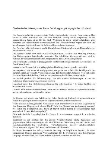 Systemische Beratung im pädagogischen Kontext - Grundschule Alt ...