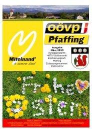 Ausgabe März 2013 Verlagspostamt: 4870 ... - ÖVP-Pfaffing