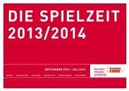 die spielzeit 2013/2014 - Konzert theater coesfeld