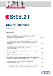 StEd.21 - Stotax Portal