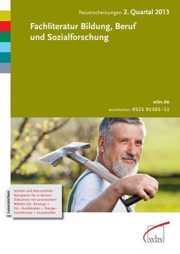 Fachliteratur Bildung, Beruf und Sozialforschung - W. Bertelsmann ...