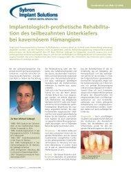 Sonderdruck (deutsch) - Sybron Implant Solutions GmbH
