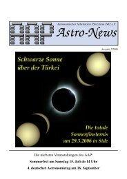 AAP Astro-News 2/2006 - Sternwarte Nordschwarzwald