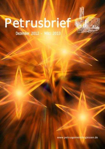 Gemeindebrief 2012 (03) - Evangelische Petrusgemeinde