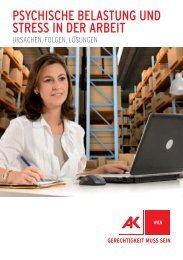 stress in der arbeitswelt psychische belastung und ... - Arbeiterkammer