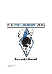 Sponsoring Konzept - Ice Crushers Zug