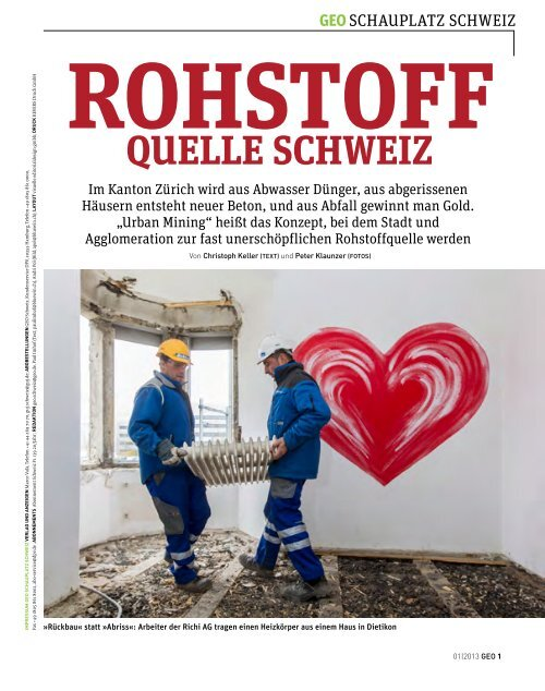 GEO, Urban Mining - Christoph Keller