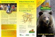 Flyer mit Wegplan - Wildpark Schwarze Berge