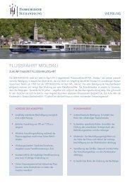 Flussfahrt Moldau - Faktenblatt - Hamburgische Seehandlung