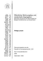 Titel als PDF - Fakultät für Sozialwissenschaft der Ruhr-Universität ...
