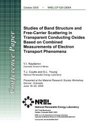 Studies of Band Structure and Free Carrier Scattering in ... - NREL