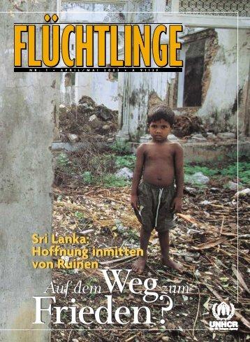 """Heft 1/2003: """"Sri Lanka - Auf dem Weg zum Frieden?"""" - unhcr"""