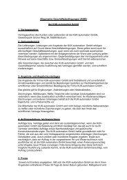 Allgemeine Geschäftsbedingungen (AGB) der KUK-automation ...