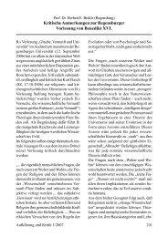 Kritische Anmerkungen zur Regensburger Vorlesung von Benedikt ...