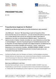 PRESSEMITTEILUNG - Georg-Simon-Ohm-Hochschule Nürnberg