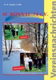 Vereinsnachrichten - SC Rönnau 74 e.V.