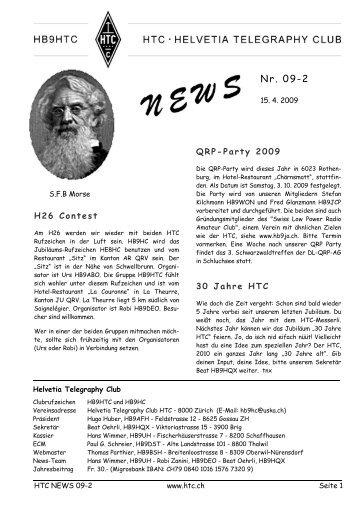 HTC-News 2009 II.pdf - Helvetia Telegraphy Club