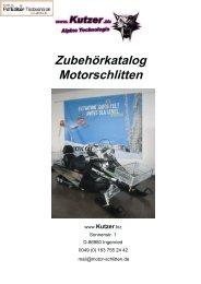Zubehörkatalog Motorschlitten - loipenspurer.de