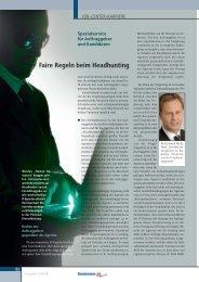 Faire Regeln beim Headhunting - Medizin-EDV
