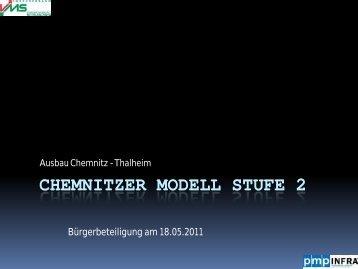 Vortrag des Planers ( pmp INFRA GmbH) - Chemnitzer Modell