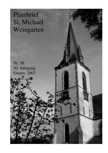 Pfarrbrief Nr. 98 - St. Michael Weingarten