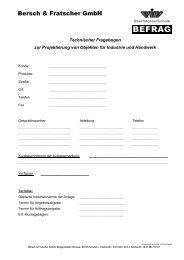 Industrie und Handwerk - Bersch & Fratscher