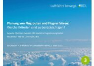 Planung von Flugrouten und Flugverfahren - BDL
