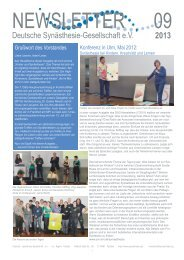 DSG-Newsletter, Ausgabe 09/2013 - Deutsche Synästhesie ...