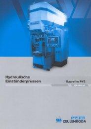 Page 1 Hydraulische Baureihe PYE Einständerpressen H39 ...