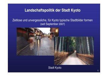 Landschaftspolitik der Stadt Kyoto
