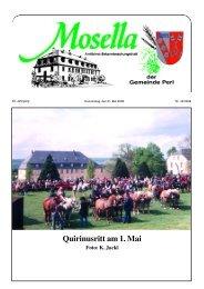 Quirinusritt am 1. Mai - Perl