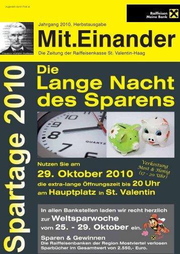Jahrgang 2010, Herbstausgabe Die Zeitung der Raiffeisenkasse St ...