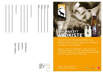 aBoKiSte - Hof Maiezyt