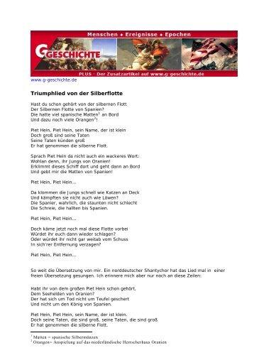 Triumphlied von der Silberflotte - G/Geschichte