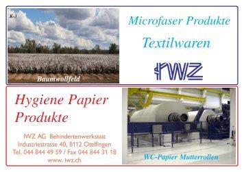 Textil-Papier Katalog quer - IWZ AG