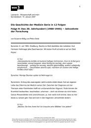ms060515 Geschichte der Medizin1 - Folge 9 - Das 20. Jahrh - WDR 5