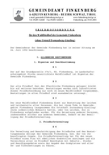 GEMEINDEAMT FINKENBERG