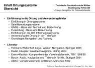 Ortung und Navigation für Telematikdienste - Technische ...