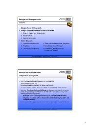 Schulpädagogischer Ansatz: Energie und Energiewandel