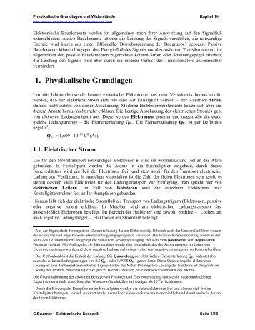 1. Physikalische Grundlagen