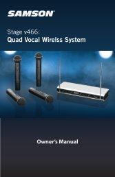 Quad Vocal Wirelss System - Samson