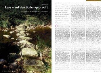 Leys – auf den Boden gebracht - Hagia Chora Journal