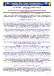 Wachsamkeit - Jesus Christus Evangeliumdienst