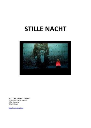 Dossier de présentation du projet Stille Nacht - Théâtre L'Échangeur